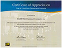 USP Certificate of Appreciation